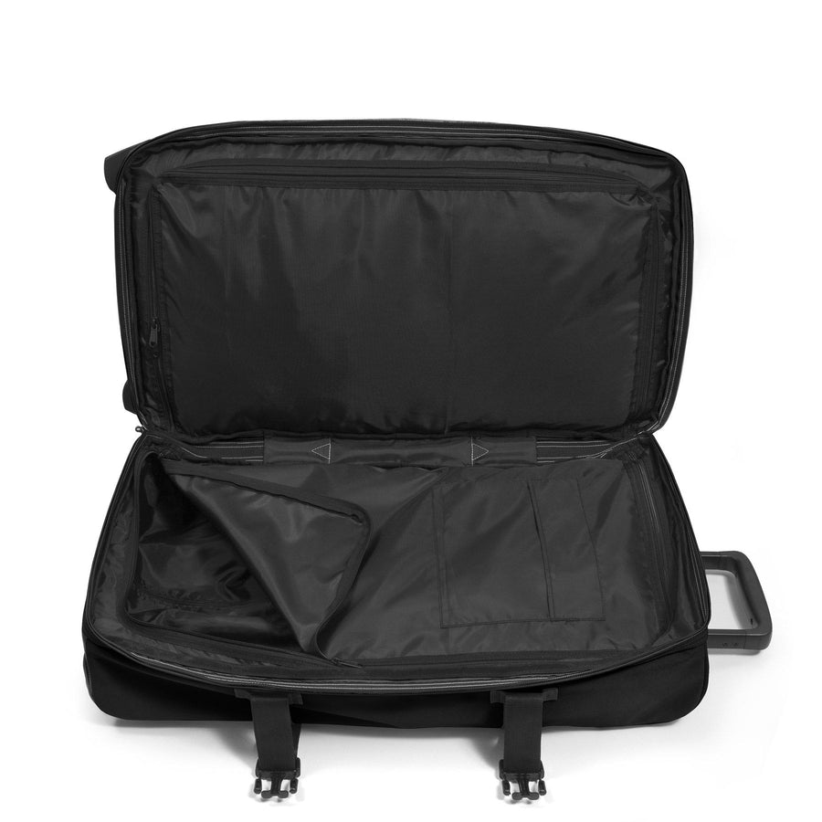 Eastpak Strapverz M Medium Black Wheeled Backpack
