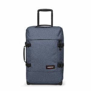 Eastpak Tranverz S Small Cabin Crafty Jeans Blue Wheeled Luggage