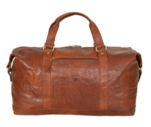 Rowallan Safari Leather Holdall Tan Brown