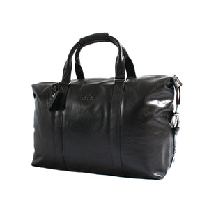 Rowallan Safari Leather Holdall Black