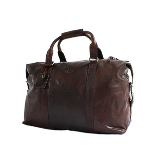 Rowallan Safari Leather Holdall Dark Brown
