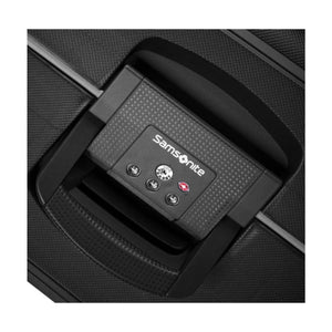 Samsonite S'Cure M 69cm Spinner - Black Bag Lock View