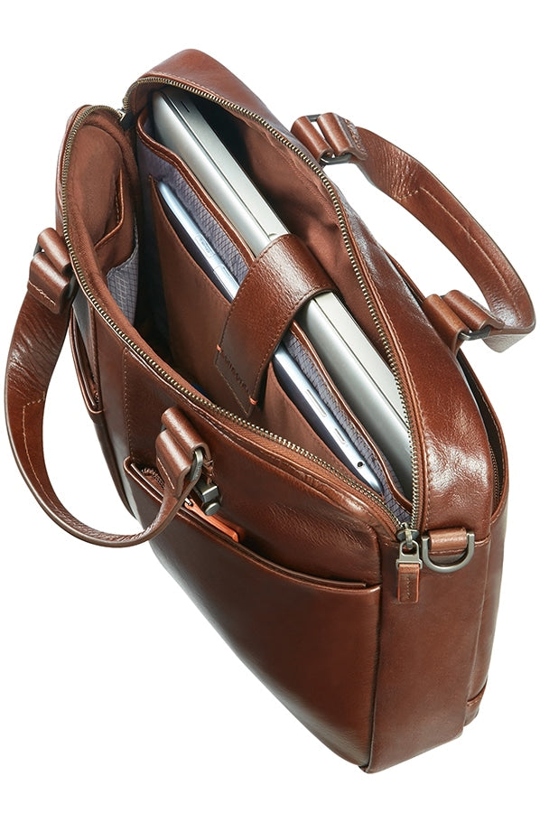 "Samsonite West Harbor 14.1"" Bailhandle Brown Leather"