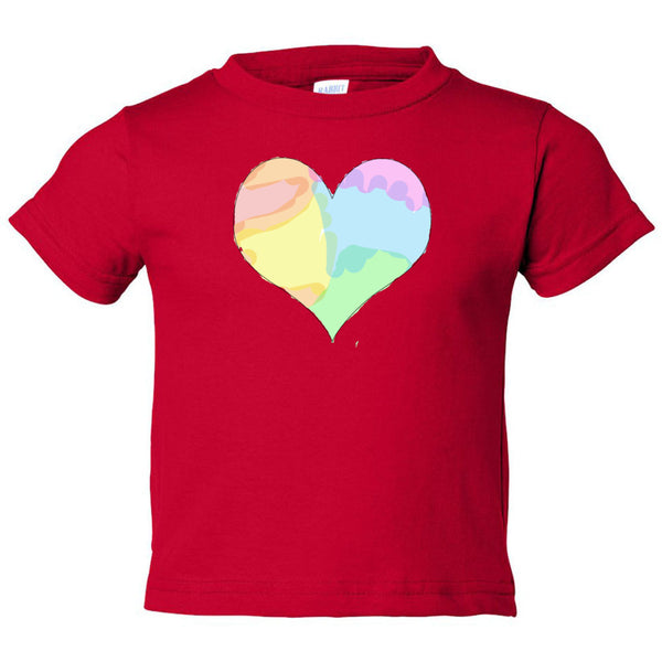 Tie Dye Heart Toddler Cotton Jersey Tee