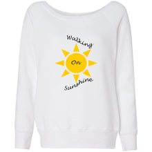 Load image into Gallery viewer, Walking On Sunshine Women's Sponge Fleece Wideneck Sweatshirt