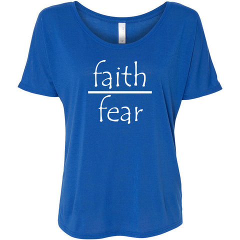 Faith Over Fear Women's Slouchy Tee