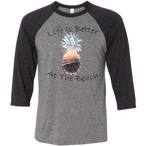 Life Is Better Unisex Three-Quarter Sleeve Baseball T-Shirt