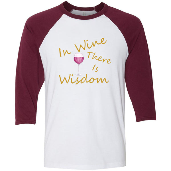 Wine & Wisdom Unisex Three-Quarter Sleeve Baseball T-Shirt