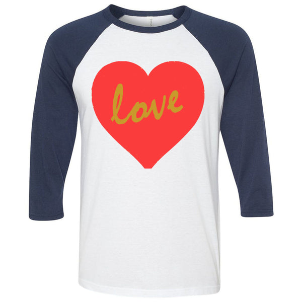 Love Unisex Three-Quarter Sleeve Baseball T-Shirt