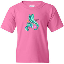 Load image into Gallery viewer, Mermaid Hair Cotton Youth T-Shirt
