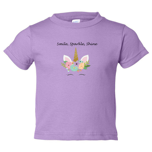 Smile, Sparkle, Shine Toddler Cotton Jersey Tee