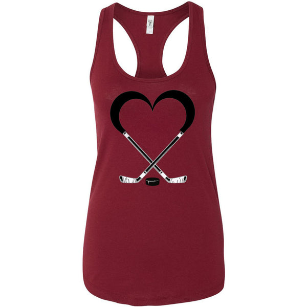 Love Hockey Women's Ideal Racerback Tank