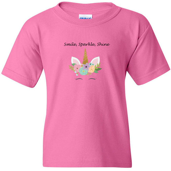 Smile, Sparkle, Shine Heavy Cotton Youth T-Shirt