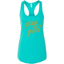 Load image into Gallery viewer, Stay Gold Women's Ideal Racerback Tank