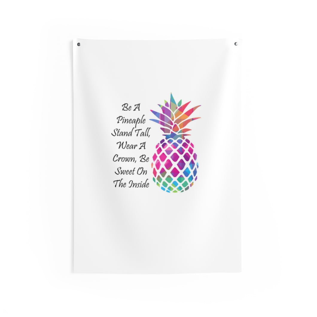 Be A Pineapple Indoor Wall Tapestries