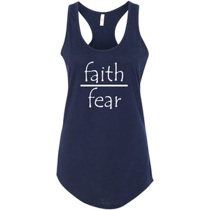 Faith Over Fear Women's Ideal Racerback Tank