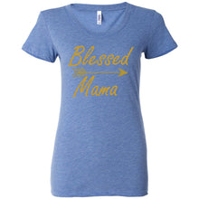 Load image into Gallery viewer, Blessed Mama Women's Triblend Short Sleeve Tee