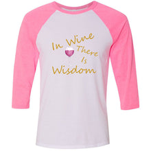 Load image into Gallery viewer, Wine & Wisdom Unisex Three-Quarter Sleeve Baseball T-Shirt