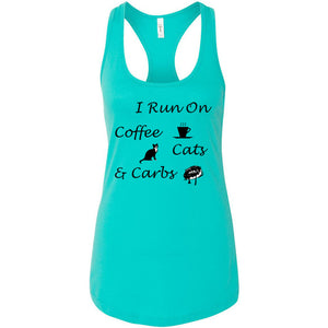 Coffee, Cats, Carbs Women's Ideal Racerback Tank