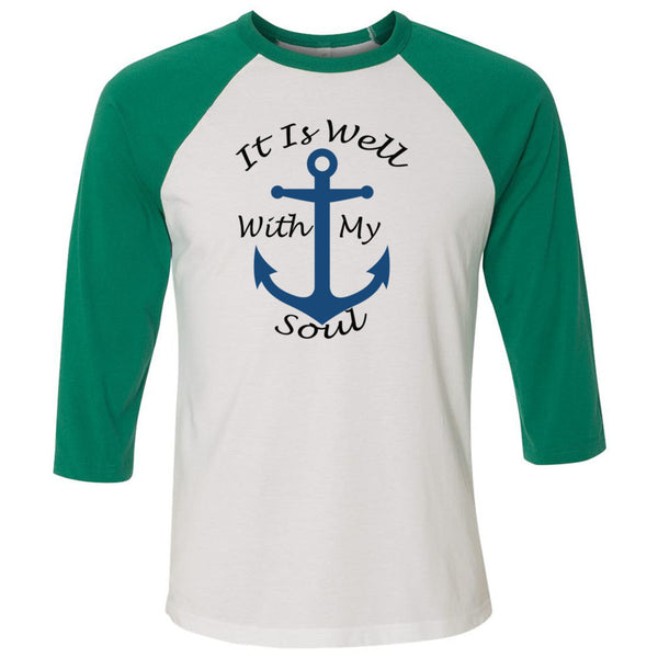 It Is Well With My Soul Unisex Three-Quarter Sleeve Baseball T-Shirt