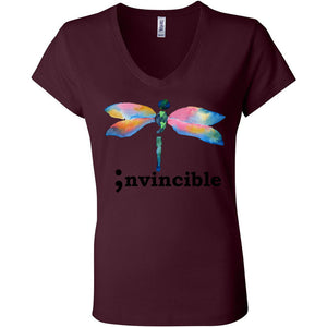 Invincible Women's Short Sleeve Jersey V-Neck Tee