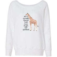 Load image into Gallery viewer, Be A Giraffe Women's Sponge Fleece Wideneck Sweatshirt