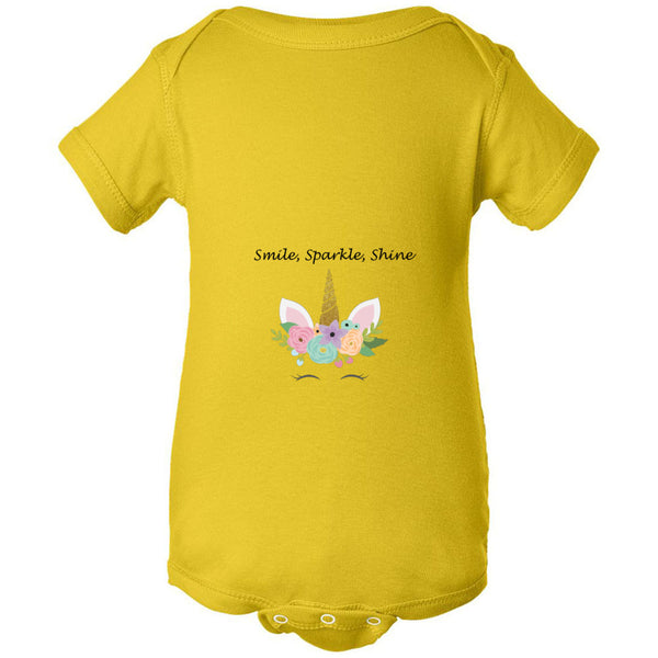 Smile, Sparkle, Shine Infant Fine Jersey Bodysuit