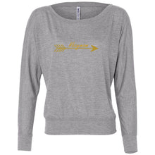 Load image into Gallery viewer, #boymom Women's Flowy Long Sleeve Off Shoulder Tee