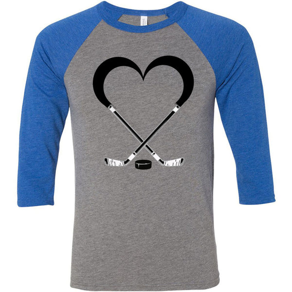 Love Hockey Unisex Three-Quarter Sleeve Baseball T-Shirt