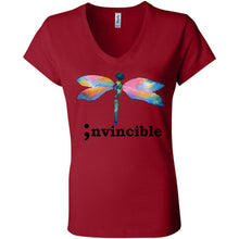 Load image into Gallery viewer, Invincible Women's Short Sleeve Jersey V-Neck Tee