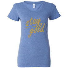 Load image into Gallery viewer, Stay Gold Women's Triblend Short Sleeve Tee