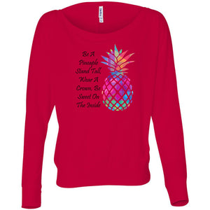 Be A Pineapple Women's Flowy Long Sleeve Off Shoulder Tee