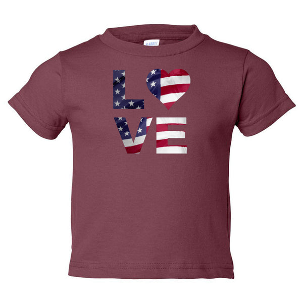 Love USA Toddler Cotton Jersey Tee