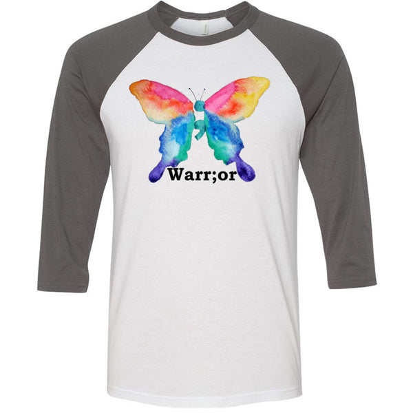 Warrior Unisex Three-Quarter Sleeve Baseball T-Shirt