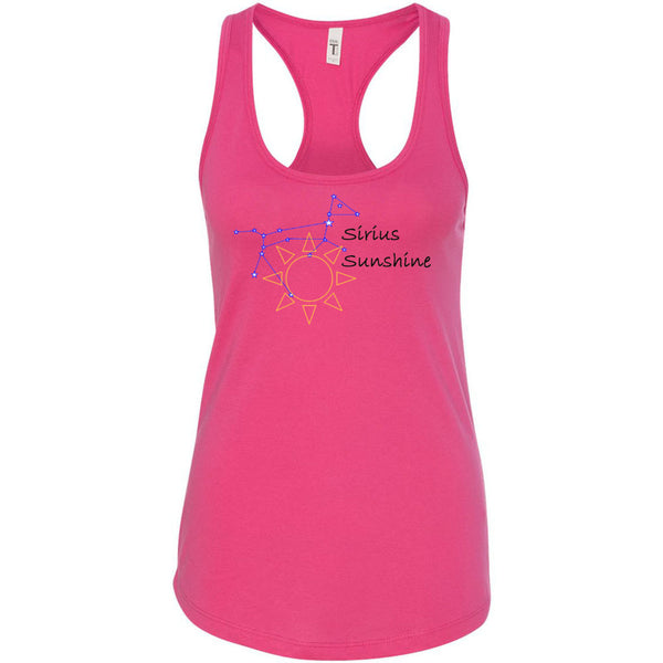 Sirius Sunshine Black Letter Women's Ideal Racerback Tank