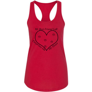 PawPrints Women's Ideal Racerback Tank
