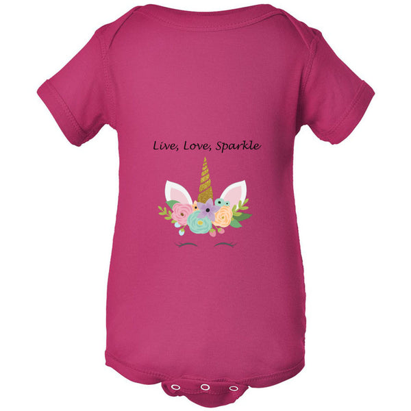 Live, Love, Sparkle Infant Fine Jersey Bodysuit