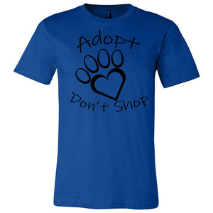 Adopt Don't Shop Unisex Short Sleeve Jersey Tee