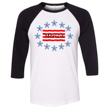 Load image into Gallery viewer, 'Merica Unisex Three-Quarter Sleeve Baseball T-Shirt