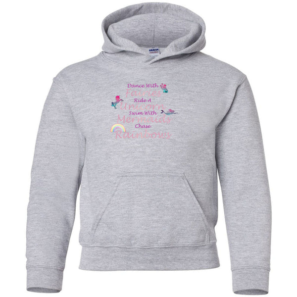 Dance With Fairies Heavy Blend Youth Hooded Sweatshirt