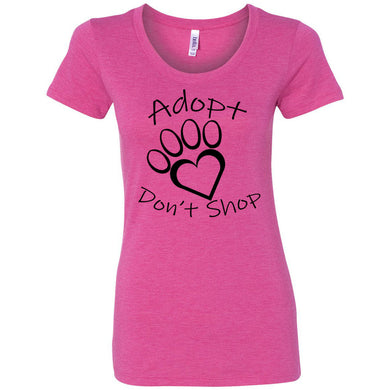 Adopt Don't Shop Women's Triblend Short Sleeve Tee