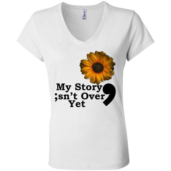 My Story Women's Short Sleeve Jersey V-Neck Tee