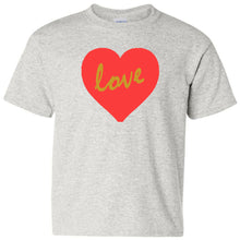 Load image into Gallery viewer, Love Heavy Cotton Youth T-Shirt