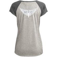 Load image into Gallery viewer, Disciples MC White Ladies Heather on Heather Performance T-Shirt