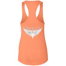 Load image into Gallery viewer, Disciples MC White Edge Next Level Ladies Ideal Racerback Tank