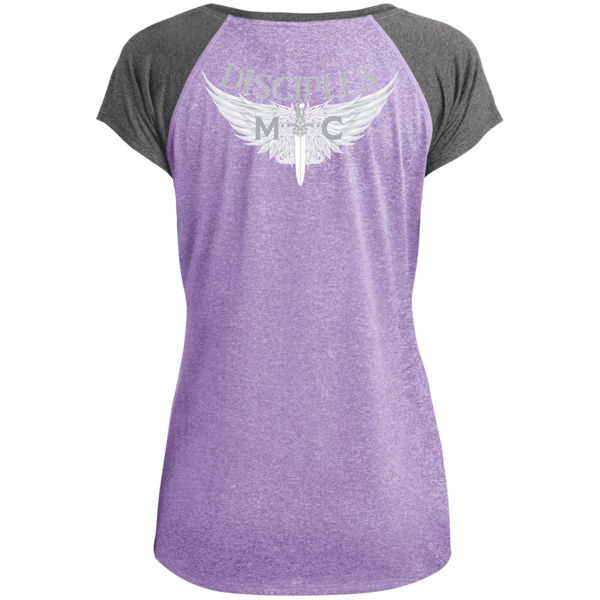 Disciples MC B&E Ladies Heather on Heather Performance T-Shirt