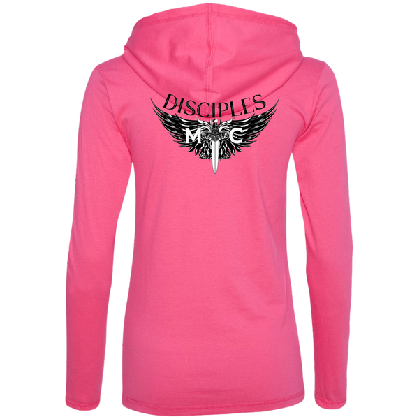 Disciples MC B&E Blk Ladies' LS T-Shirt Hoodie