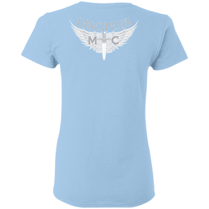 Disciples MC White Poet Gildan Ladies' T-Shirt
