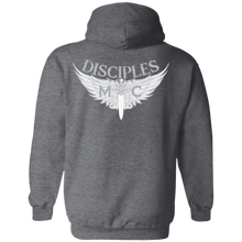 Load image into Gallery viewer, Disciples MC White Poet Gildan Pullover Hoodie