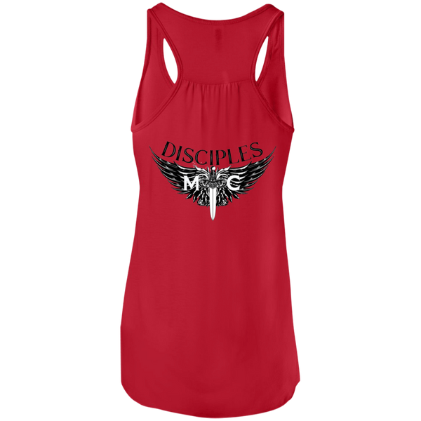 Disciples MC B&E Blk Flowy Racerback Tank